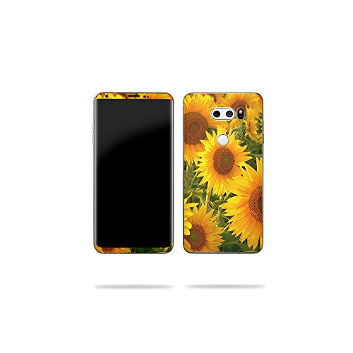 Price comparison product image MightySkins Skin Compatible with LG V30 - Sunflowers / Protective,  Durable,  and Unique Vinyl Decal wrap Cover / Easy to Apply,  Remove,  and Change Styles / Made in The USA