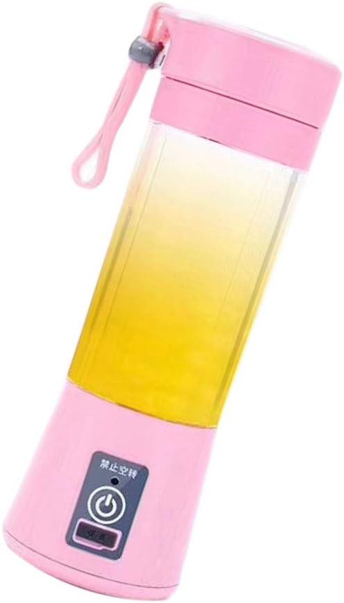 vkospy USB Mini portátil eléctrico Licuadora Dos Cuchillas Juicer de la Fruta del Fabricante del Smoothie
