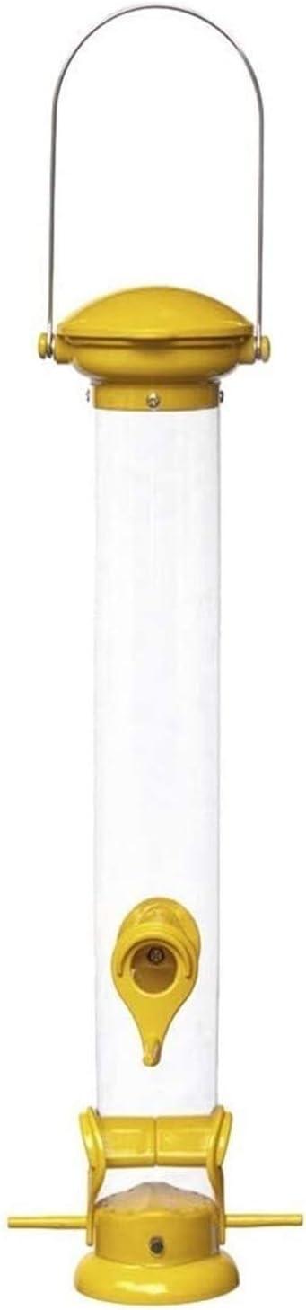 Girasol o Mezclado Semilla alimentador Alimentador de pájaros Moldeada Tubo de Aluminio, for Trabajo Pesado, Unión Superior y fácil Base Limpia (Color: Yollew) LMMS (Color : Yollew)