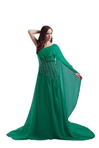 Bridal_Mall - Robe - Trapèze - Sans Manche - Femme -  vert - 46