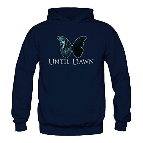 Women's Until Dawn Horror Game Butterfly Effect Logo Long Sleeve Sweatshirts Hoodie Tommery XXL (Multi Logo Collage)