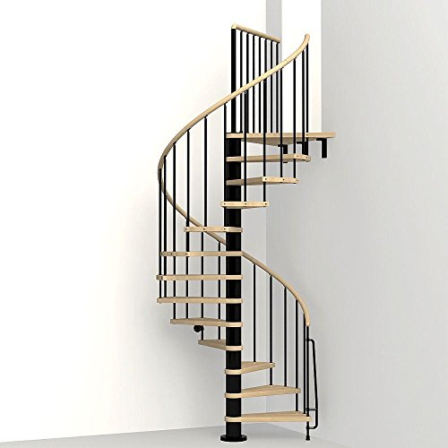 wood spiral staircase kit - 4