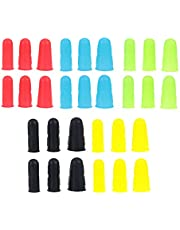MILISTEN 30pcs Silicone Finger Protectors- Silicone Hot Glue Finger Caps- Rubber Fingers Tips Guard Kitchen Tools for Hot Glue Sewing Crafts