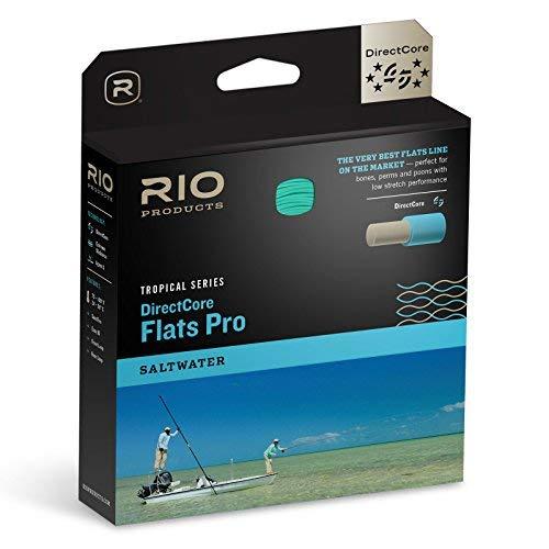 Rio Fly Fishing Fly Line Flats Pro Stealth tip Wf9F/I Fishing Line, Clear/Aqua/Orange/Sand