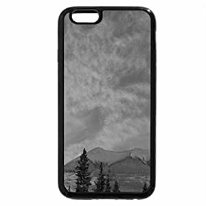 iPhone 6S Case, iPhone 6 Case (Black & White) - Lake Minnewanka, Alberta, Kanada