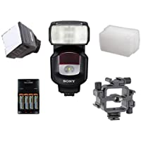 Sony HVL-F43M External Flash For Sony Cameras. Value Kit with Accessories