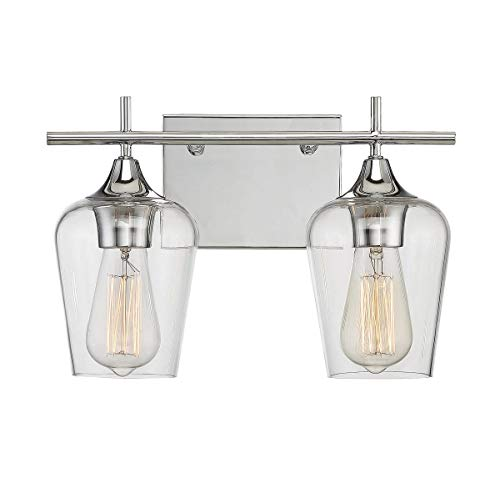 Savoy House Octave 2 Light Bath Bar 8-4030-2-11 in Polished -