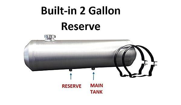 3//8 NPT 10x34 Center Fill Spun Aluminum Gas Tank 11.25 Gal Site Gauge TRIKE