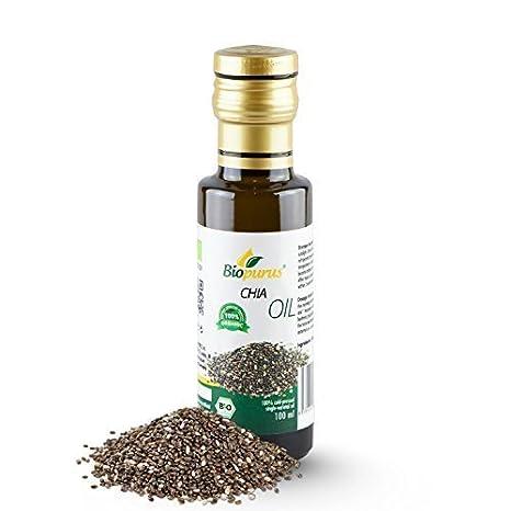 certificado orgánico PRENSADO EN FRÍO Semilla de chía ACEITE 100ml biopurus