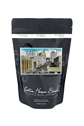 East on Broadway from San Diego Hotel (8oz Whole Bean Small Batch Artisan Coffee - Bold & Strong Medium Dark Roast w/Artwork)