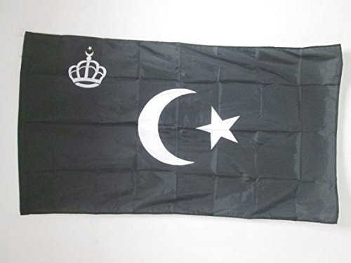 ROYAL STANDARD OF LIBYA 1946-1969 FLAG 3' x 5' for a pole - LIBYAN KINGDOM FLAGS 90 x 150 cm - BANNER 3x5 ft with hole - AZ FLAG