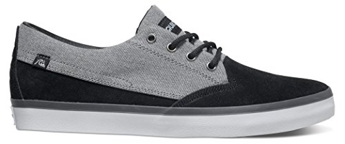 black Quiksilver Noir Beacon Homme Suede Xksw white Baskets Up grey Basses Herren Shoes Lace vrqvz
