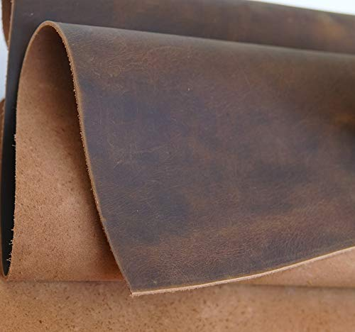 Yellow Brown Genuine Leather Square 1.8-2.0mm 12''x32'' by Jeereal (Image #1)