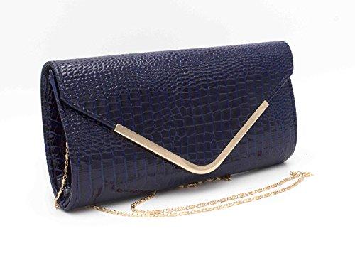 Hello Bag! - Cartera de mano de Material Sintético para mujer Azul