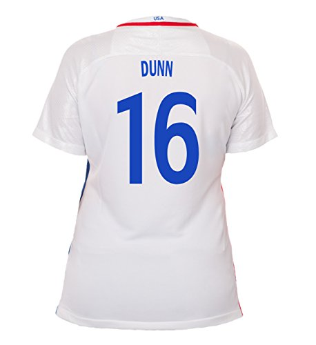 (Nike Dunn #16 USA Home Soccer Jersey Rio 2016 Olympics Women's (L))