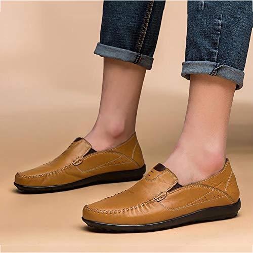 de Deslizadores Boda Hombres Mocasines Que Caminan y Cuero conducción Fiesta la Zapatos Casuales los de Zapatos Zapatos Zapatos e de de UN de Perezosos caída Comodidad la Incluso q8Zyg6w