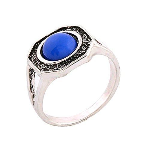 Klaus Mikaelson Vampire Werewolf Hybrid Cosplay Ring - Blue/Silver (0.3 oz)