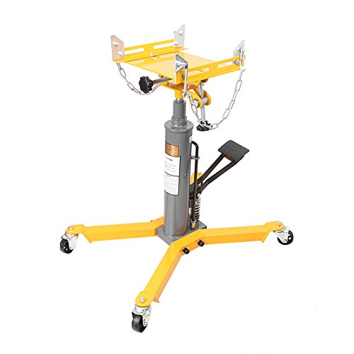 FHAIHPP 1500LBS 2 Stage Hydraulic Pressure Transmission Jack with 360 Swivel Wheel Life Hoist