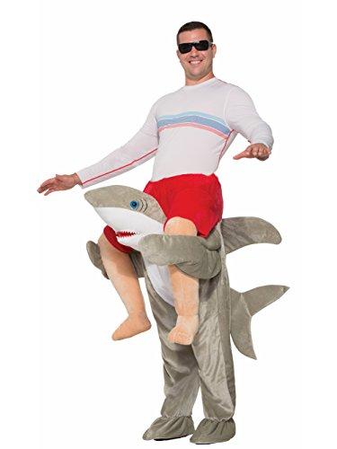Forum Men's Shark Deluxe Ride-on Costume, As Shown, (Surfer Shark Costume)