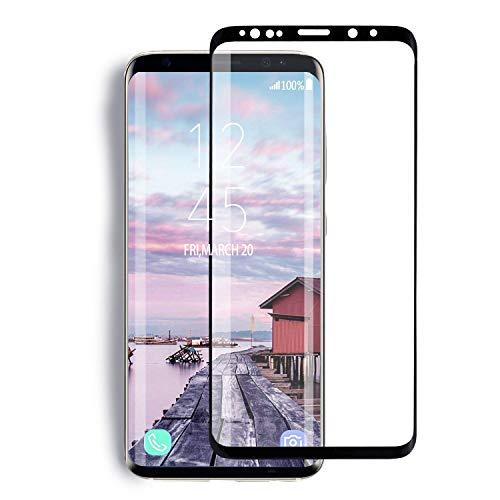 YRMJK Galaxy S9 Plus Screen Protector,3D Full Screen Compatible Galaxy S9 Plus Tempered Glass Screen Protector[Curved Dot Matrix][No Bubbles][Anti Fingerprint] (6.2