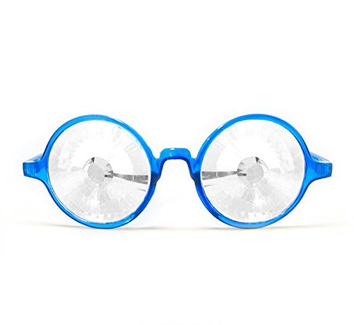 GloFX Transparent Blue Kaleidoscope Glasses - Clear Wormhole by GloFX