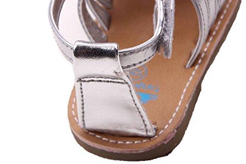 etrack-online Baby Boy goma soled Prewalker antideslizante exteriores Sandalias plateado Talla:6-12 meses plateado