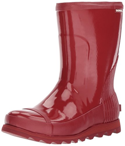 Womens Shoe Gloss Red (SOREL Women's Joan Rain Short Gloss Boot, red Dahlia, Candy Apple, 10 M US)
