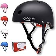 COSCANA, Skateboard Helmet with Removable Liner, for Kids/Youth Scooter, Skateboarding, Roller Skate, Longboar