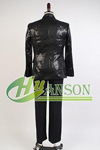 Amazon.com: Cosplaysky – Daft Punk disfraz brillante negro ...