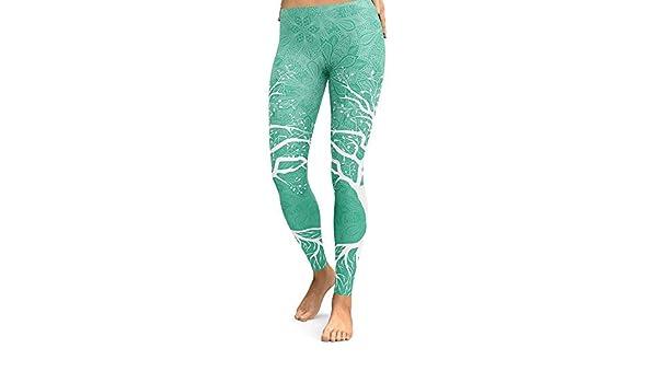 Wuxingqing Pantalones de Yoga para Mujer Caderas Impresas ...