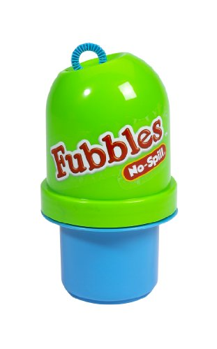 Little Kids Fubbles No-Spill Tumbler Includes 4oz Bubble Solution and Bubble Wand (Tumbler Colors May Vary) (No Spill Bubble Machine)