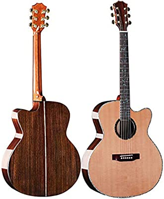 NUYI 41/42 Pulgadas De Pino Rojo De La Guitarra Acústica De Chapa ...