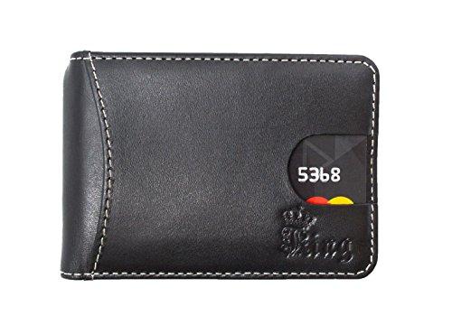 Men's Leather Wallet - Money Clip Wallet - RFID Blocking Bifold Slim Card Holder