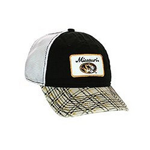 NCAA Mizzou Tigers Plaid Mesh Adjustable Hat