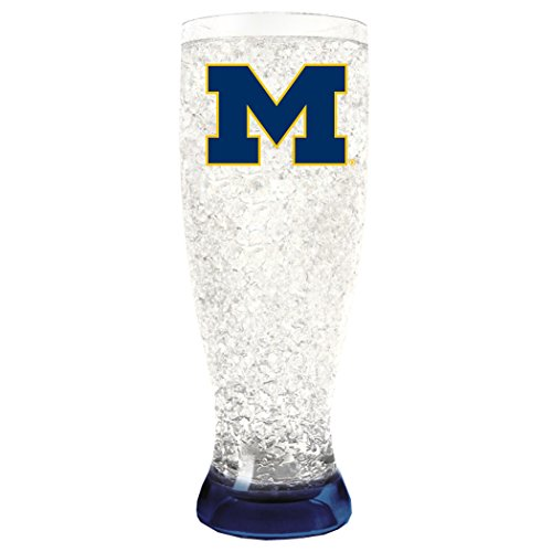 NCAA Michigan Wolverines 16oz Crystal Freezer Pilsner