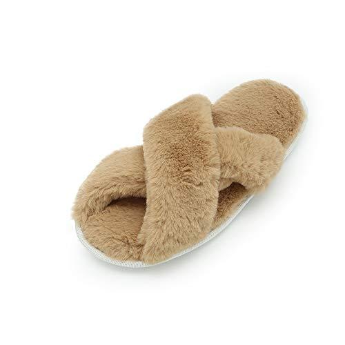 Invernali Con Panna Babucce Da Donna Pelliccia Rosso Pantofole Ciabatte Bianco In Foam Morbide Memory Beige Grigio BTqCx