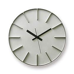 Lemnos Lemnos edge clock edge clock L size color : aluminum AZ-0115 design : AZUMI table clock wall clock wall clock watch wall clock