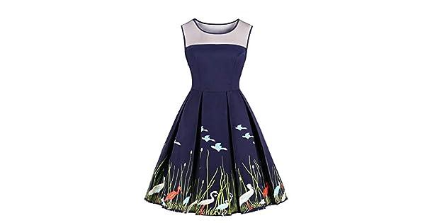 Amazon.com: Wellwits Vestido de té vintage para mujer ...