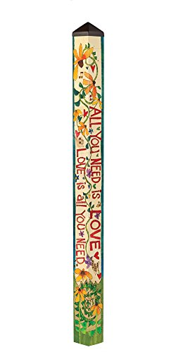 Studio M PL1081 Garden Art Pole, All You Need Is Love (Pole Love)