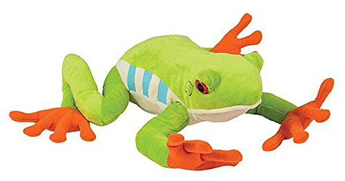 Wildlife Tree 10 Inch Red Eyed Tree Frog Stuffed Animal Floppy Plush Species Collection