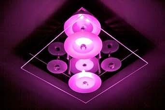 Eco Light - Lámpara LED de techo (con mando a distancia y configuración de cambio de color)