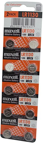 Maxell LR1130 Alkaline Battery 1.5V, 10 Pack (Maxell Alkaline Button)