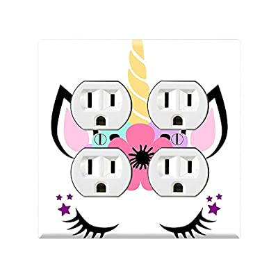 UNICORN Light Switch Cover Wall Plate, UNICORN Graphics Wallplate, Outlet Cover, Single Toggle, Single Rocker, Outlet Cover, Gift for Unicorn Lover, Unicorn Kids Room, Unicorn Wall Plate Cover TF101: Handmade