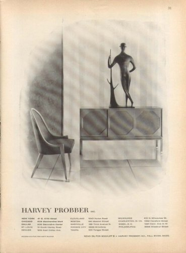 Chair & Sideboard by Harvey Probber ad 1957
