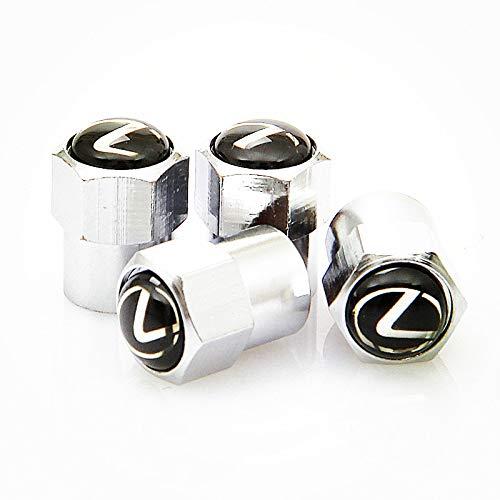 SXhhqhsm Zinc Alloy Chrome Lexus Logo Tire Stem Valve Caps for Apply to Lexus( A Set of 4 Plus an Extra)