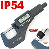 "iGaging Digital Electronic Micrometer 0-1""/0.00005"" and Caliper 0-6""/0.0005"" Set Machinist Inspection Tool Kit"