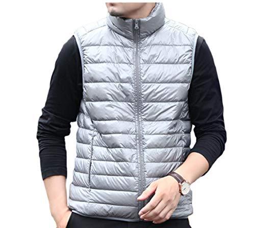 Down Jacket Men's Vest Stand Casual Lightweight Coat Collar Gery Gocgt Fn0Zgqn