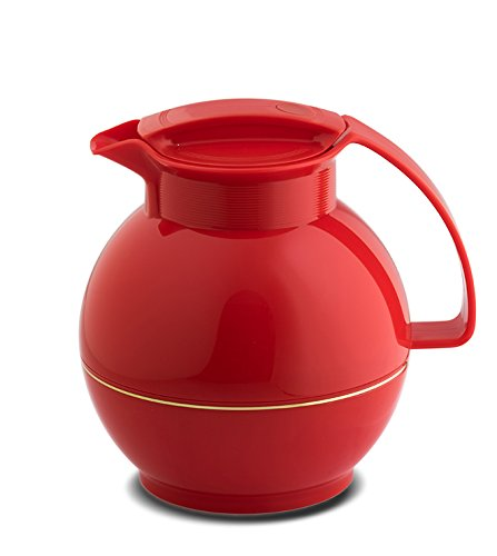 Rotpunkt Isolierkanne 360 1, 0 l (Crazy Red)| Doppelwandige Vakuumisolierung | Zweifunktions-Drehverschluss | BPA Frei- gesundes Trinken | Made in Germany | Warm+Kalthaltung