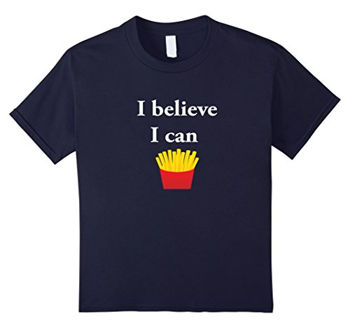 Kids Funny Chief Cooking Food Truck T Shirt - I Believe I Can Fry 12 Navy