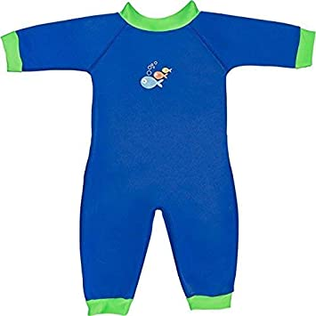 107d04d2c3a96 Warmsuit Wetsuit - Blue/Lime -0-3 mths: Amazon.co.uk: Baby